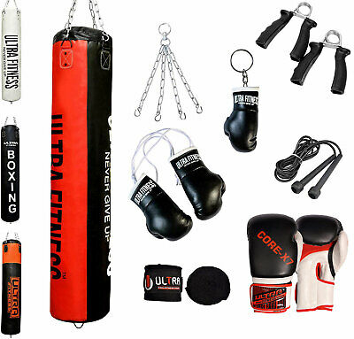 Punch Bag set of 12 pieces,Kick Boxing MMA Heavy Punching Muay Thai Training