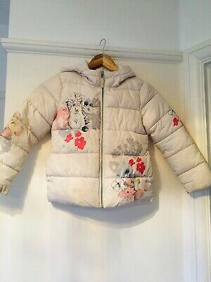 STUNNING Padded White with Flower Print, Next Girls Jacket, Aged 7 years