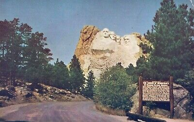 The Shrine of Democracy, Mt. Rushmore National Monument, S. Dak Postcard A55