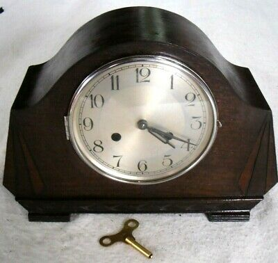 Antique 1920-30s Art Deco 'MAUTHE' Striking Mantel Mechanical Clock, Restored.