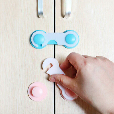 CW_ Cabinet Lock Child Safety Baby Protection Toddlers Closet Drawer Latches Eye
