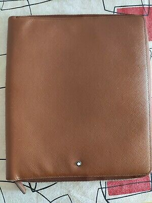 Montblanc Leather Notepad organizer work folio A5 With Zipper