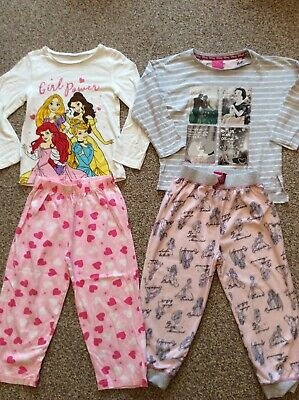 Disney Princess Girls Pyjamas Bundle 3-4 Years