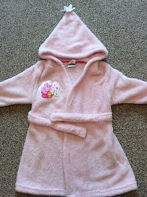 Peppa Pig Pink Girls Dressing Gown Robe By George 3-4 Years