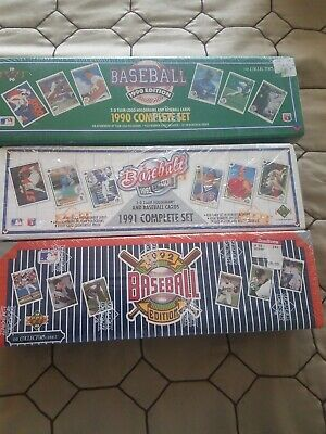 1990 1991 1992 Upper Deck Baseball Complete Factory Sets Lot of 3 New and Sealed