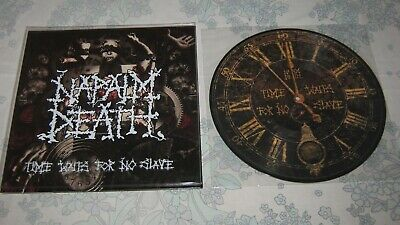 """NAPALM DEATH """"Time Waits For No Slave"""" PIC LP 2011 799X  carcass repulsion"""