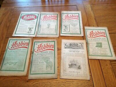 6 hobbies and fretwork magazines 1920 +1 1921