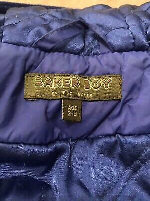 Ted Baker Boys Coat 2-3 Years Grey Duffle Wool Cashmere Hooded Winter Warm