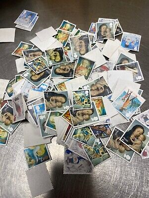 150g/Approx 1700 X 1st/2nd Class Unfranked 2nds Off Paper Postage Stamps FV £999