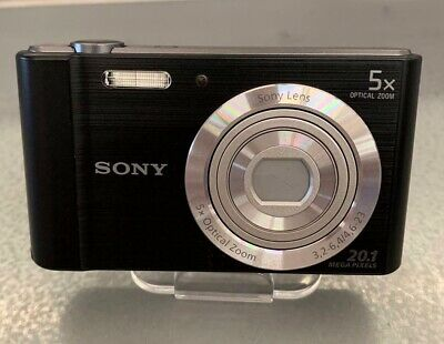 Sony Cyber-shot DSC-W800 20.1MP Digitalkamera - Schwarz 5 fach Zoom, MD88001 NEU