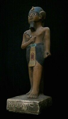 Rare ANCIENT EGYPT EGYPTIAN STATUE ANTIQUITIES Osiris Gods Carved STONE 3150 BC