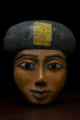 ANCIENT EGYPT EGYPTIAN ANTIQUES Mask  STATUE Pharaoh BEAUTIFUL Face STONE 946 BC