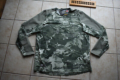 New Under Armour Men's CoolSwitch Thermocline Hybrid Camo L/S Crew Shirt XL