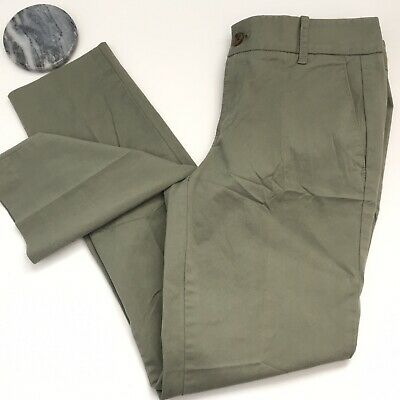 J.CREW Factory Stretch Frankie Chino Pants Size 2 Cargo Green Cotton Work Career