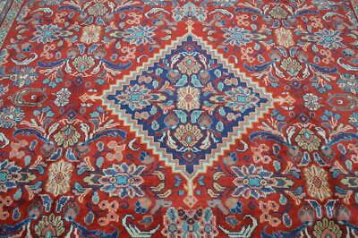 9'7 x 13'3 Vintage Fine Mahal Hand Knotted Wool Area Rug Oriental Carpet 10 x 13