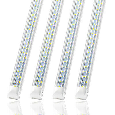 4 Pack JESLED Integrated 8FT LED Tube Light Bulbs Fixture 120W 6000K 12000LM