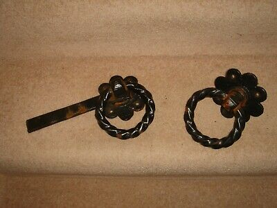 vintage ? cast iron gate handles / latch / door handle / heavy black