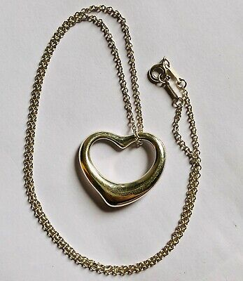Genuine Tiffany & Co. Elsa Peretti Large Heart 925 Sterling Silver Pendant 28mm