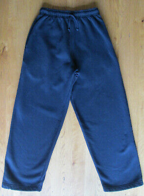 Kids 11-12 Years - Navy Blue Tracksuit Bottoms Joggers Sports Trousers School Pe