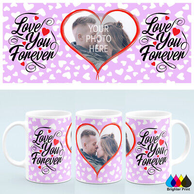 Personalised Valentines Day Photo Mug Cup Custom Image Ideal Gift +Free Gift box