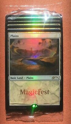 Magic the Gathering MTG - Magicfest Basic Land Pack 2020 - Sealed Promo Foils