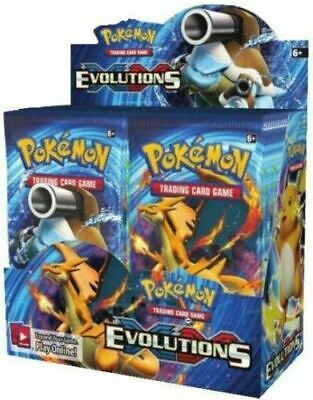 Pokemon XY Evolutions Booster New TCG Card Game - Sealed 6 BOOSTER PACK LOT