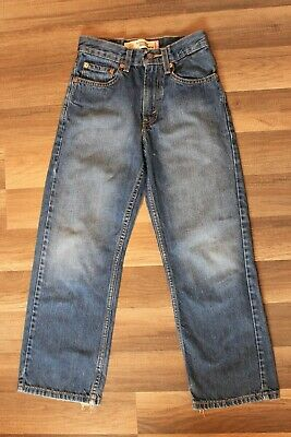 Levis Jeans Boys 569 Size 10 Slim 23x25 Loose Straight Fit Blue Denim