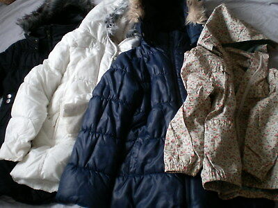 Girl Cloths Jacket Coat Bundle Job Lot 4-7 Years M&S H&M Debenhams Pumpkin Patch