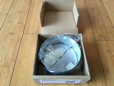 5 IN Back Draft Damper Rubber Seal Ventilation Galvanized Steel Round Duct NEW