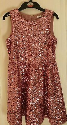 Fantastic Marks and Spencer M&S pink sequined party dress BNWT age 9-10 RRP £34