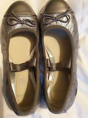 Clarks silver party shoes size 11 (Great condition!)