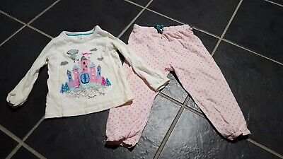 Girls marks and spencer princess castle pjs nightwear age 2-3 years