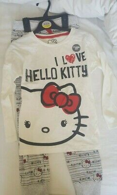 BNWT Marks and Spencer (M&S) girls  Hello Kitty Pyjamas age 7-8