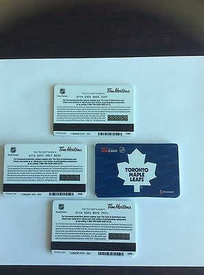 Tim Hortons Toronto Maple Leafs Gift Cards. LOT OF 100 CARDS. Mint Condition.