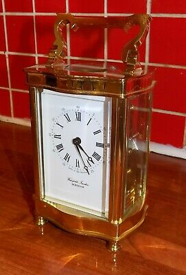 Timepiece carriage clock 8-day striking on bell