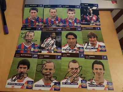 Job Lot Of Custom Made Crystal Palace Trading Cards
