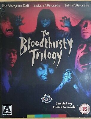 Blu-Ray  The Bloodthirsty  Trilogy - Brand New Sealed Uk Stock