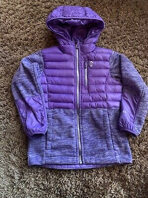Free Country Girls Fleece Jacket Size Xs 5/6 Violet