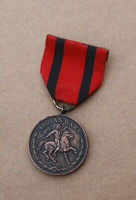 Us Army Indian Campaign / Indian Wars Medal Full Wrap Brooch