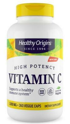 Healthy Origins - VITAMIN C 1,000MG (NON-GMO), Immune system support - 2 Sizes