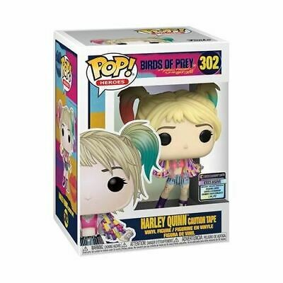Birds of Prey Harley Quinn Caution Tape Funko Pop! w/ Collectible Card - EE Excl