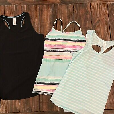 Ivivva by lululemon Girls Tops with cropped black leggings size 14