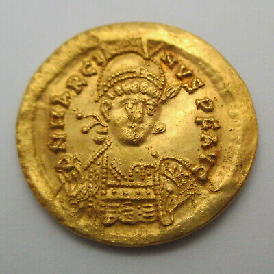 450-457 AD Eastern Roman Empire MARCIAN Gold Coin AV SOLIDUS Ancient RIC X 510