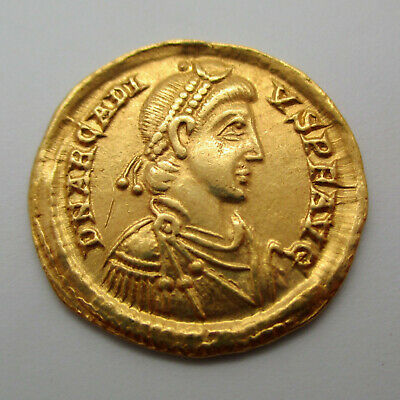 383-408 AD Eastern Roman Empire ARCADIUS Gold Coin AV SOLIDUS Ancient RIC X 1205