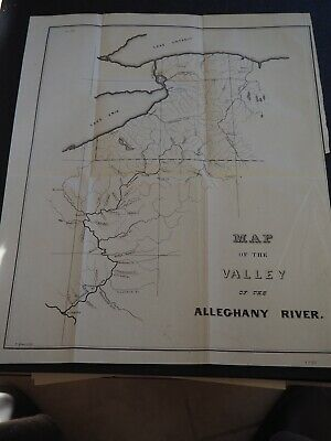 """Antique Map """"Map of the Valley of the Alleghany River"""""""