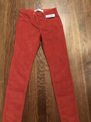 NWT Girls Old Navy Red Rockstar Corduroy Leggings Pants Size 12