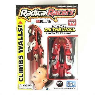 Radical Racers - Radio Controlled Wall-Climbing Car - As Seen on TV, Red! NEW