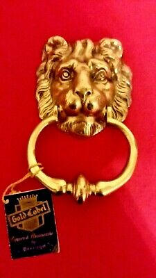 New Lion Head Door Knocker PEERAGE Solid Brass and Copper made in England