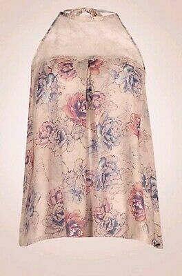 M&S Rosie for AutographFloral Printed Pyjama Top & Full length Bottoms Size 8