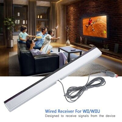 Wired Infrared IR Signal Ray Sensor Bar/Receiver for Nintendo WII/WIIU Remote